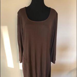 NWT Lauren Ralph Lauren Dress Brown Size XL